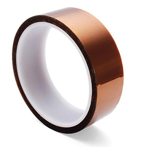 Gaoxing Tech. 5 Größe 5mm 10mm 20mm 30mm 50mm 30m / 100ft BGA Hochtemperatur Film Hitzebeständiges Polyimid Kapton Tape Gold Resisting Sticky