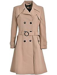 1eea1b7b9 De la Crème Women s Trench Coat Spring Summer Autumn Ladies Lightweight  Belted Mac Trench Coat