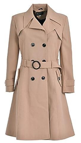 de la creme - Manteau imperméable - Trench - Femme - beige - 50