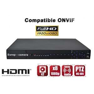 Enregistreur numérique NVR réseau 24 / 32 canaux H264 IP ONVIF 5MP 3MP 1080P FULL HD / Ref : EC-NVR24C2