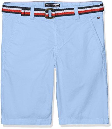 Tommy Hilfiger Ame Belt Chino Short Mstrt, Pantaloncini da Bagno Bambino, Blu (Vista Blue 419), 152 (Taglia Produttore: 12)