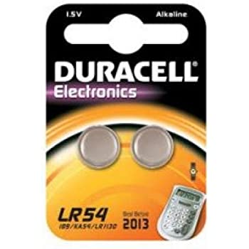 Duracell lr54 household battery alcalino 1 5 v for Batteria bottone lr1130