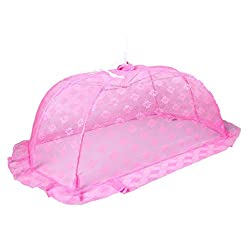 Baby Station Mosquito Net Floral Design (Large, Pink)