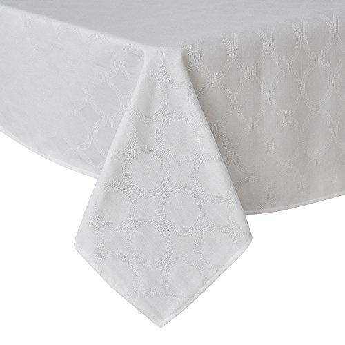 Tischwäsche Lotuseffekt Tischtücher Tischdecke Jacquard 130x280 cm Rund Weiß ()