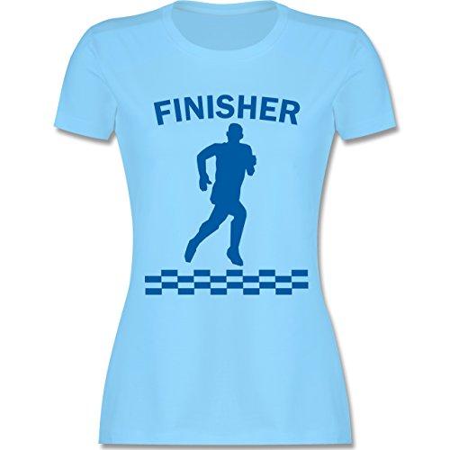 Laufsport - Finisher - tailliertes Premium T-Shirt mit Rundhalsausschnitt für Damen Hellblau
