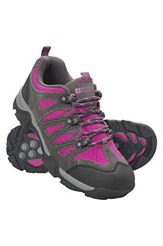 Mountain Warehouse Cannonball Wanderschuhe für Kinder - Allwetterschuhe für Kinder, Bequeme Trekkingschuhe, strapazierfähige Laufsohle, Knöchelhalt - Für Reisen, Camping leuchtendes Pink 35 EU