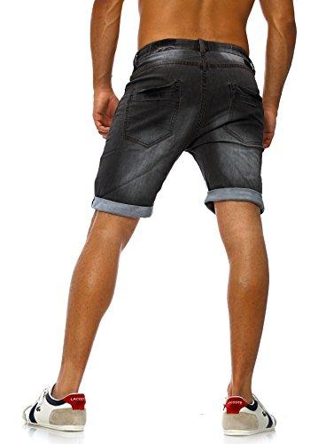 Sweat Jeans Denim Jogger Shorts Sommer Kurze Hose Sublevel 98-86 dunkelblau Anthrazit