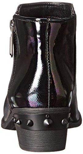 Circus by Sam Edelman Holt Spitz Leder Mode-Stiefeletten Black Oil Slick