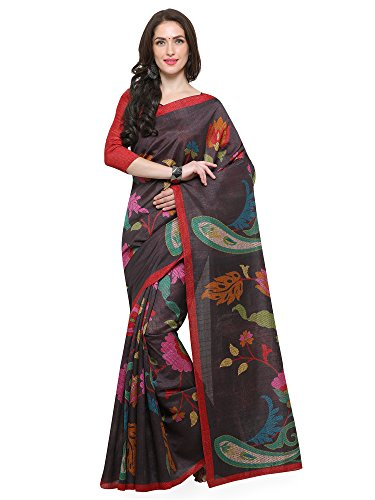 Saree Mall Art Silk Saree With Blouse Piece (_Grey_Free Size)