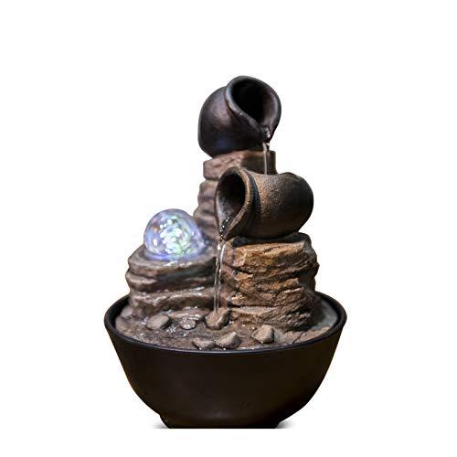 Zen\' Light Nature Verso Fuente, Resina, Bronce, 17x 17x 25cm