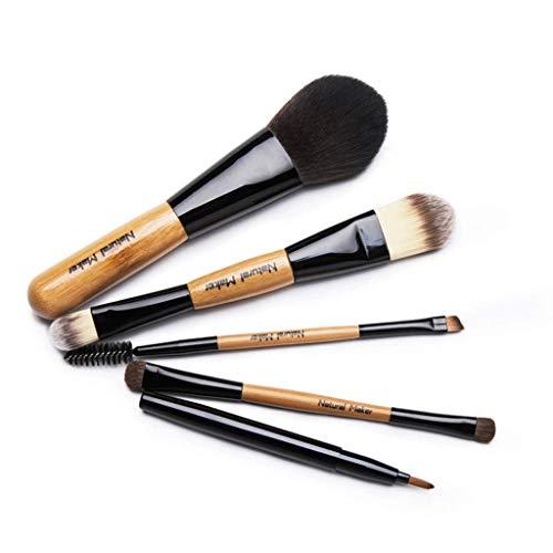 Make-UP Brush Home Kits de cosmétiques de brosses de Maquillage 5pcs, Brosse de Jeu portatif de Brosse de Maquillage de Fard à paupières de sourcil