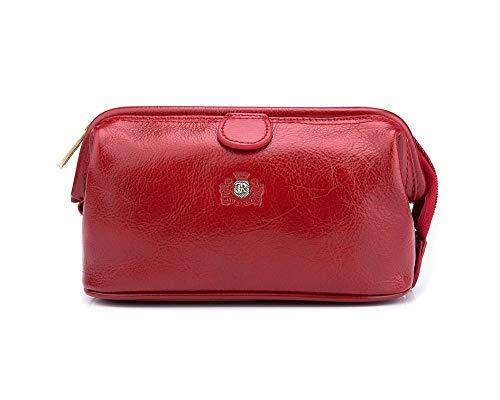 Wittchen Kosmetiktasche | Farbe: Rot | Narbenleder | Höhe (cm): 12 x Breite (cm): 21 | Kollektion: Roma | 22-3-004-3