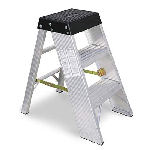 YJLGRYF Klapptritt Aluminium 3 Trittleiter Faltbarer, rutschfester, leichter Plattform-Hocker Klappbarer Trittleiter-Schritt-Hocker mit Doppelseiten-rutschfestem und breitem Pedal für die Hausarbeit /