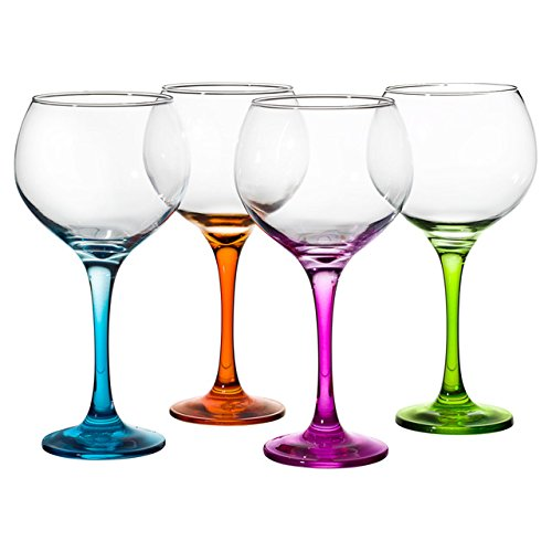 Set 4 Copas Cubata pie color Ambassador 79 CL Pasabahçe