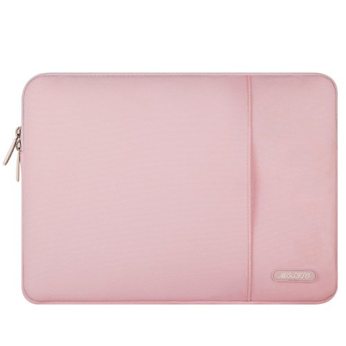 MOSISO Laptop Sleeve Hülle für 2018 MacBook Air 13 A1932, MacBook Pro 13 Zoll A1989&A1706&A1708 2018 2017 2016, Surface Pro 6/5/4/3, Polyester Vertikale Stil Wasserabweisend Laptoptasche, Rosa