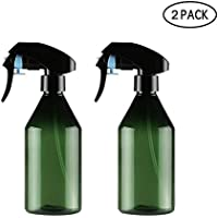 KOBWA - Botella de espray vacía de 300 ml, 2 unidades, rellenable a prueba de fugas, plástico PET, muy fino, pulverizador, contenedor para soluciones de limpieza, plantas, cabello, sin BPA