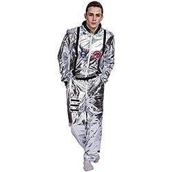 EraSpooky Plateada para Hombre Astronauta Cadete del Espacio Americano Lujo (X-Large)