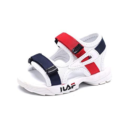 TD S18562 Junge Sandalen Strand Schuhe Mädchen Baby Kleinkind Stiefel (Farbe : Weiß, größe : ()