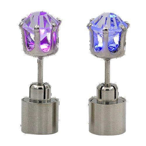 1 Paar Licht Up LED Blinkt Ohrringe Partei Accessoires Dekor Geschenk (Regenbogen) (Holloween Paar Kostüm)