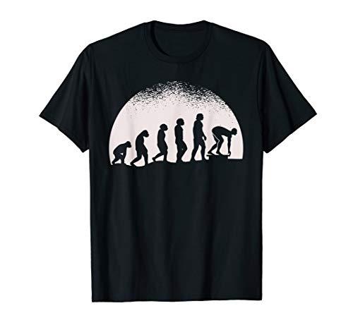 Evolution Schwimmen T-Shirt Schwimmer Startblock