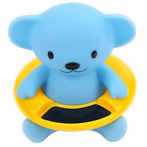 Badethermometer für Kinder und Badewanne schwimmend Badewanne und Thermometer für Pool 9,5 x 8,5 cm (blaue Bäre) 1 Stück