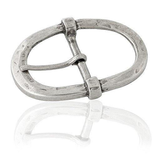 Gürtelschnalle Buckle 40mm Metall Silber Antik - Buckle Borne - Dornschliesse Für Gürtel Mit 4cm...