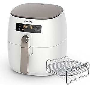 Philips HD9642/20 Airfryer Blanc + plateau - faites cuire, frire, rôtir, griller tous vos aliments