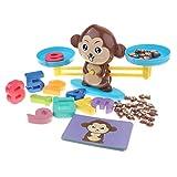 Süße Montessori Mathematik Spielzeug Set inl. Waage + Karten + Zahlenblöcke + Gewicht, Geschenk...