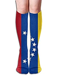 Venezuela Flags Of Countries Womens Fashion Knee High Socks Casual Socks