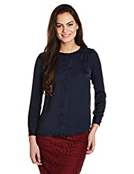 Levis Womens Body Blouse Shirt (28445-0000_Blue_Large)
