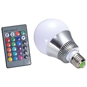 Mudder E27 10W RGB LED Couleur Changeant Ampoule de Lampe 85-265V avec Télécommande