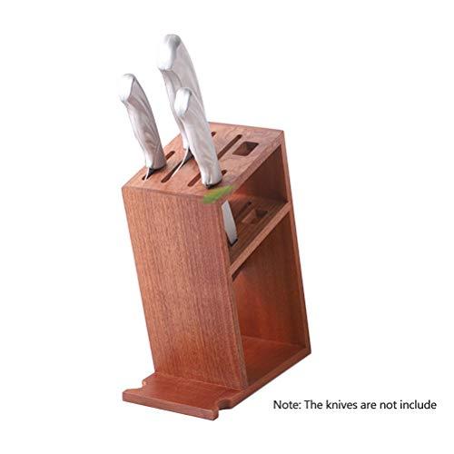 Eiche Dunkel Holz-basis (Holz messerblock ohne Messer Sandelholz messerhalter Messerspeicher Werkzeughalter Multifunktionsgestell, für eine aufgeräumte Küche,wood)