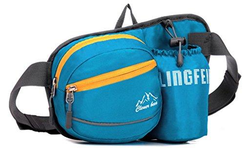 Fortuning's JDS Neue Ankunft Hüfttasche mit Tasche Wasserflasche Tasche Sport Blau