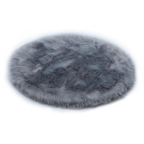 YIHAIC oveja de piel sintética Felpudo alfombra Antideslizante Lujosa Suave Lana artificial...