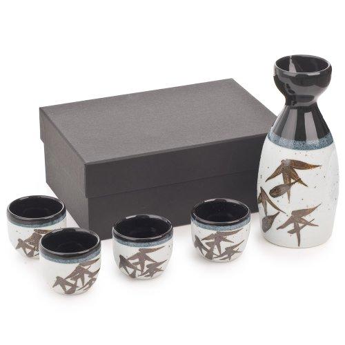 Sasa Sake-Set (Sasa Blatt)