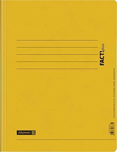 Brunnen 102010610 Schnellhefter FACT!plus (A4, aus Karton) gelb