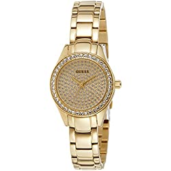 Guess Reloj de cuarzo Woman Moda Dorado 27 mm