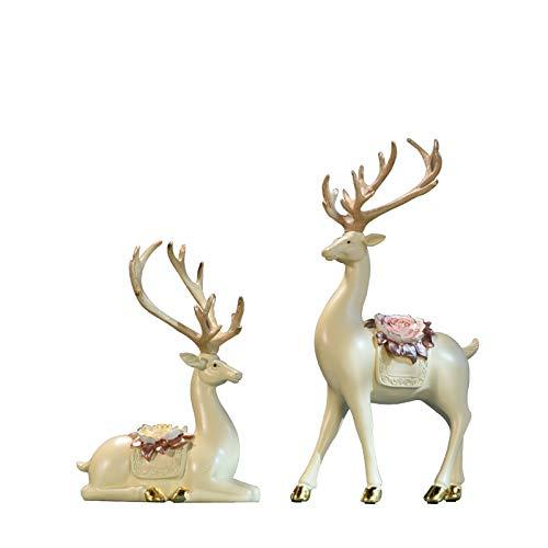 Sqbjshaop decorazione soggiorno, moderno minimalismo, complementi d'arredo, mobili tv, armadi vino, ritratti, cervi in stile nordico, elegante albicocca, ricco cervo, coppia/tromba.