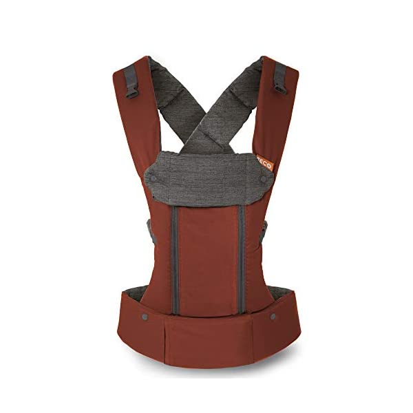 Beco 8 Adjustable Baby and Toddler Carrier. Fully Adjustable from 7 to 45lbs (Rust) Beco The Beco 8 is designed so you can carry your baby any way you want, the Beco 8 is a combination of all the features your heart could desire - from infancy to toddlerhood, wear your little one on your front facing-in, facing-out, on your hip or on your back. Ergonomic support for baby in all positions, while offering optimum comfort and flexibility for the wearer. With a sliding chest strap, fully adjustable, no longer removable. Multiple ergonomic carry positions - 2 Newborn positions (Infant Insert Included), 3 Infant positions (Front-Inward, Front-Outward, Hip), 2 Toddler positions (Front-Inward & Back Carry) The Beco 8 Also includes a fully integrated infant insert/boost ( which is fully removable). As well as a Lumbar support pad (fully removable) and a hood built-in to headrest support. The Beco has fully padded shoulder straps to avoid strain over longer journeys 1