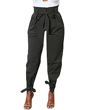 Betrothales Elegantes Mujer Spring Cintura Otoño Monocromo Pantalones Harem Alta Pantalon Anchos Fashion Trousers...