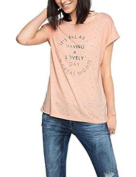 Esprit Mit Textprint, Camiseta para Mujer