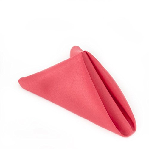 LinenTablecloth 20in. Polyester Servietten coral (1Dutzend) (Coral Polyester Servietten)