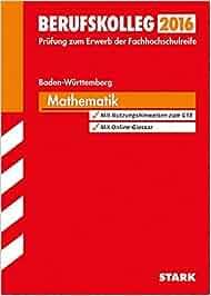 Berufskolleg Baden-Württemberg Mathematik: Amazon.de