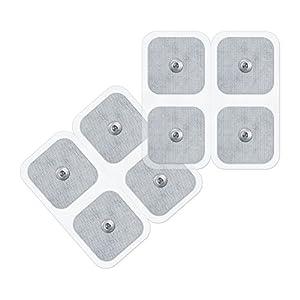 Beurer/Sanitas selbstklebende Gel-Elektroden Pads, 45 x 45 mm, Nachkaufset, bestehend aus 8 Pads, passend für Beurer und Sanitas EMS/TENS Geräte