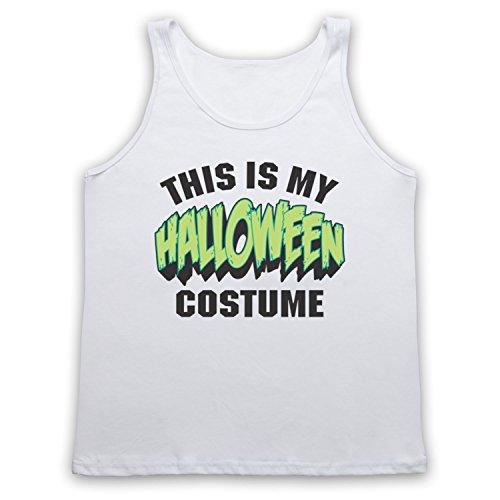 This Is My Costume Halloween Tank-Top Weste Weis