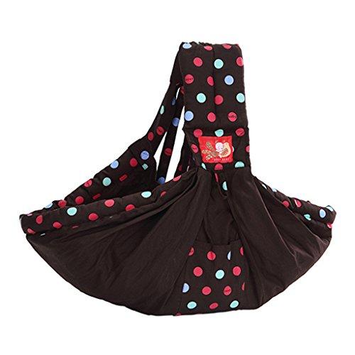 Vine Porte-bébés dorsaux Premium Porte-bébé en coton naturel, Écharpe de portage