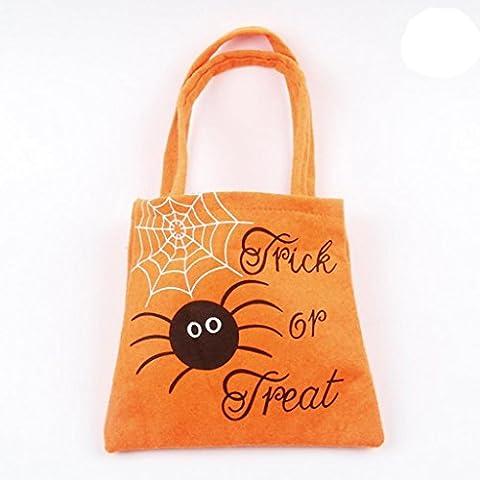 Holeider Halloween Candy Bag Niedlich Kürbis Hexen Verpackung Kinder Party Speicher Beutel Geschenk (Orange)