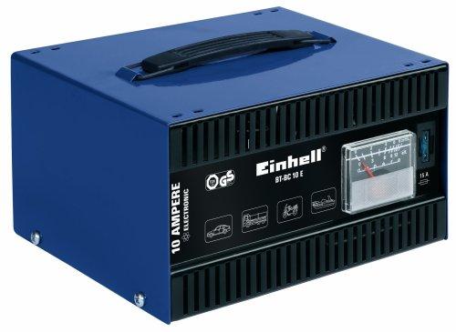 einhell batterie ladegeraet Einhell Kfz Batterieladegerät BT-BC 10 E (für Bleiakkus von 5 bis 200 Ah, 12 V Ladespannung, eingebautes Amperemeter, Ladeelektronik, Tragegriff)
