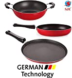 SJEWARE Non Stick Cookware Set Combo Fry Pan Non Stick Tawa Non Stick Kadai Non Stick Cooking Set Offer