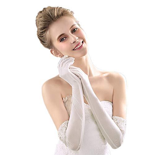 Keliour-wd sposa in pizzo matrimonio sposa abito da sposa guanti polsini pizzo perline accessori da sposa guanti guanti per la festa di nozze
